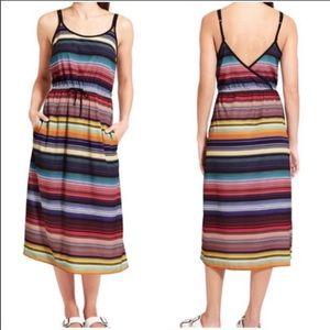 Athleta Havana Striped Midi Sun Dress
